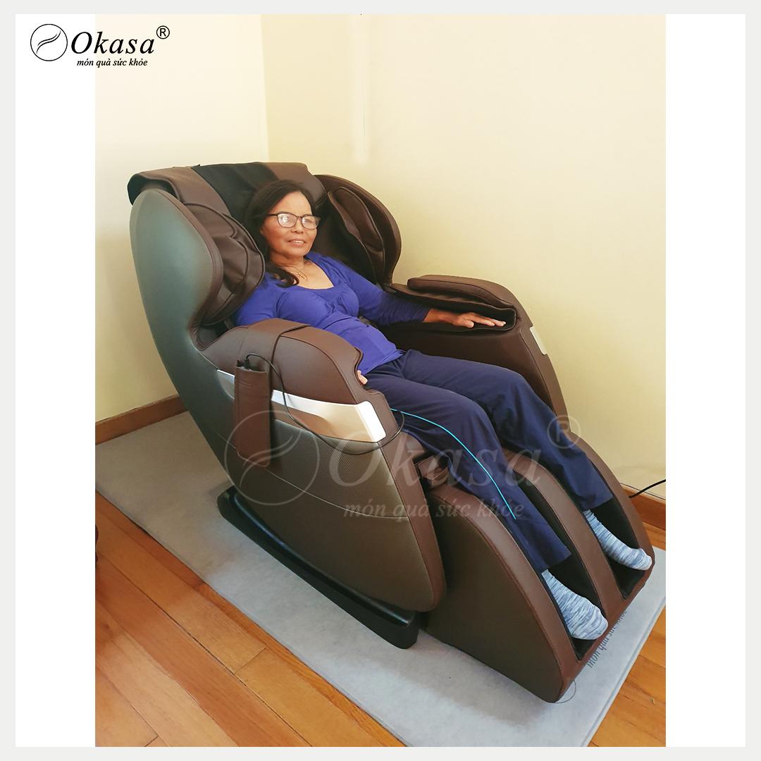 Ghế massage toàn thân hỗ trợ phòng ngừa đau lưng